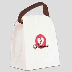 petunia Canvas Lunch Bag